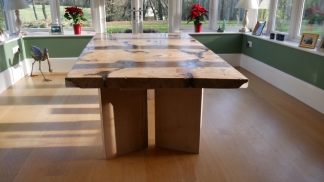 Burr Chestnut resin table