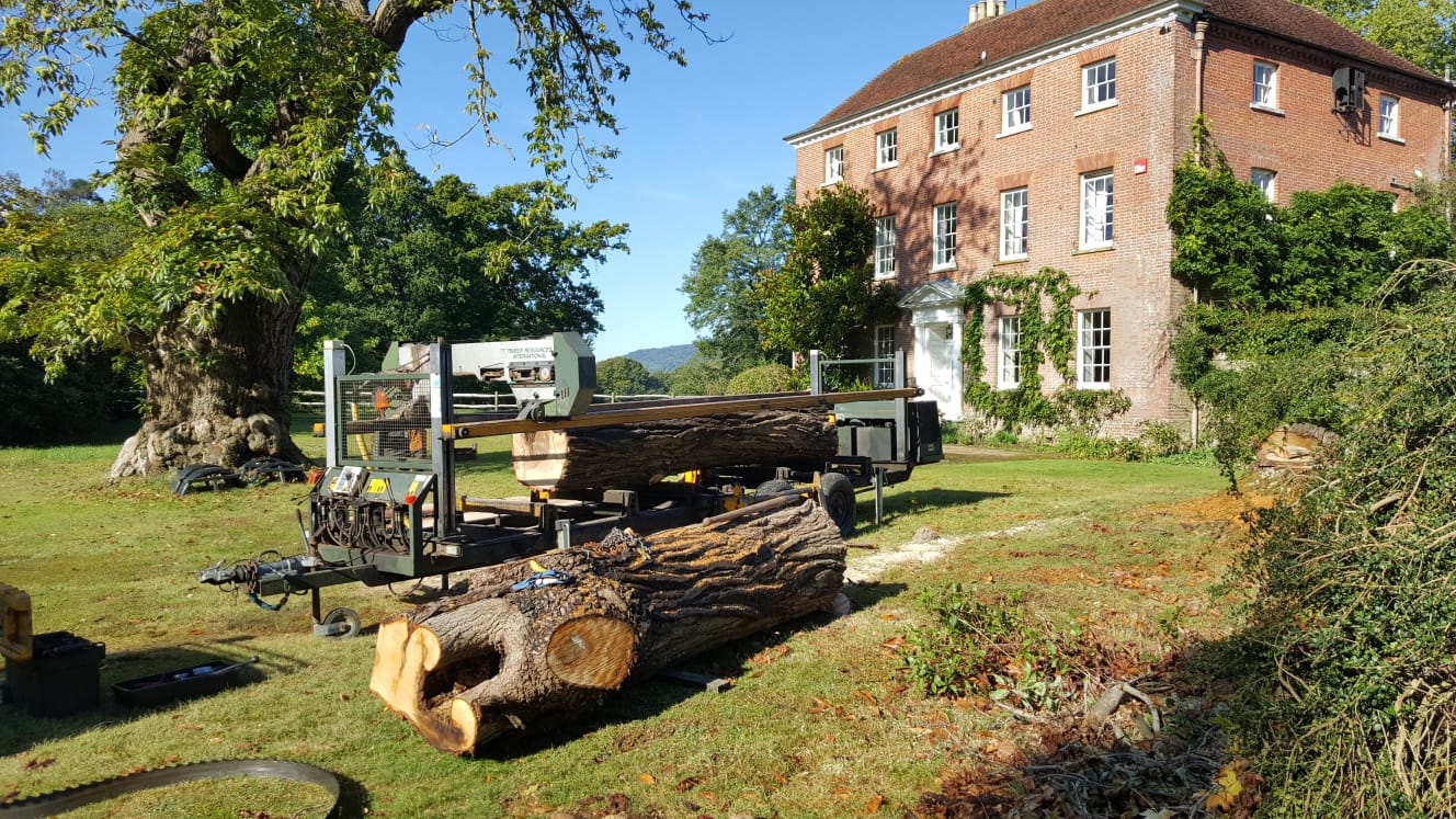 contract sawmilling Surrey Sussex Hampshire